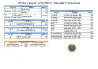 ACTIVIDADES COMPLEJO 2019-2020