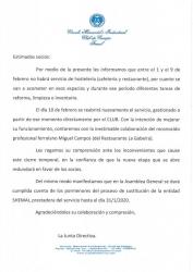 NUEVO SERVICIO DE HOSTELERÍA