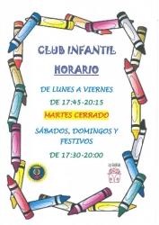 HORARIO CLUB INFANTIL