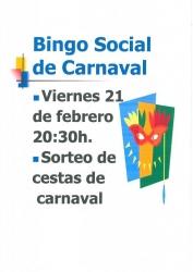BINGO SOCIAL DE CARNAVAL