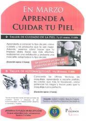 TALLER DE CUIDADO DE LA PIEL Y DE AUTOMAQUILLAJE