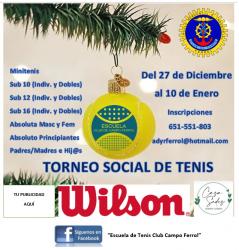 TORNEO SOCIAL DE TENIS