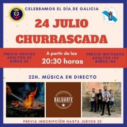 24 DE JULIO CHURRASCADA Y MÚSICA EN DIRECTO