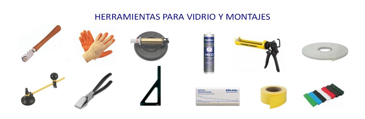 herramientas para vidrio y montajes