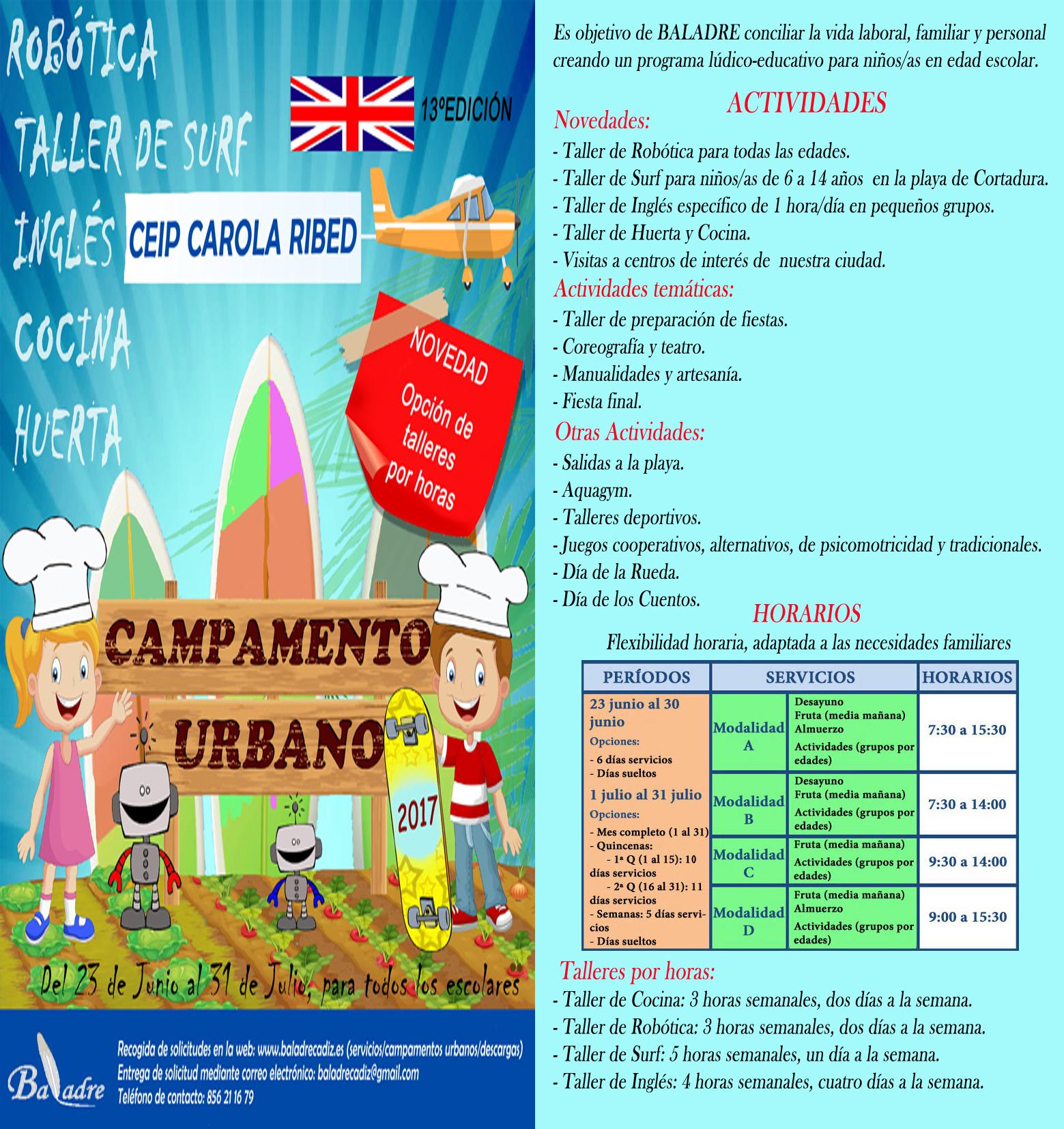 Campamentos Urbanos y/o Talleres de Actividades sueltas - Nombre ...