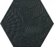PORCELANICO HEXAGONAL GAUDI BLACK 25 A 12,50 €/m2 + iva