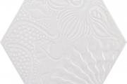 PORCELANICO HEXAGONAL GAUDI WHITE 25 A 12,50 €/m2 + iva