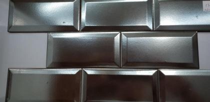 AZULEJO BISELADO METAL COM 7,5 x 15 A 7,95 €/m + iva
