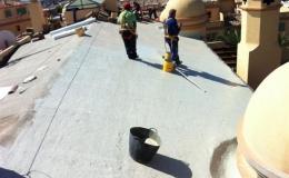 Reimpermeabilización de tejados en Comunidad de Propietarios Los Flamingos en Marbella ( Málaga )