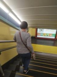 Nieves utiliza el Metro de Madrid