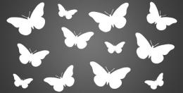 Figura metálica Mariposas