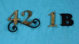 Números y Letras en forja