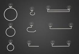 Accesorios de baño de forja