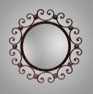 Espejo de forja Cartelas