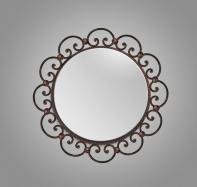 Espejo de forja Cartelas Invertidas