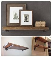 Estante de forja-madera 101