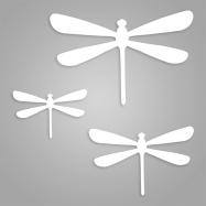Figura metálica Libélula