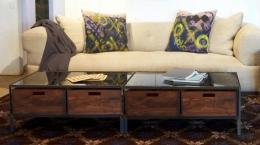 Mesa centro en forja-madera 01