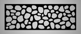 Cuadro metálico Piedras