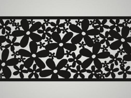 Cuadro metálico Flores