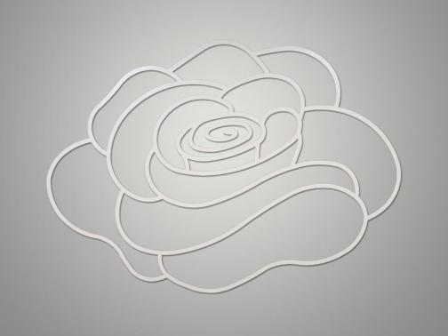 Cuadro metálico Flor Edén