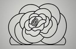 Cuadro metálico Flor-Rosa