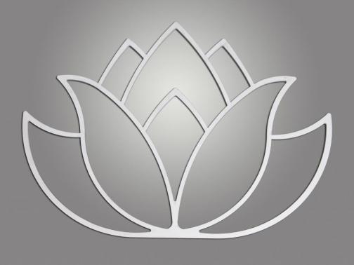 Cuadro metálico Flor-Lotto