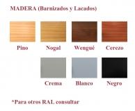 Barnices y lacados (Madera)