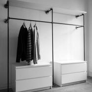 Vestidor de forja-madera 102