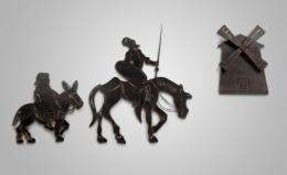 Figura metálica Quijote-Sancho-Molino I