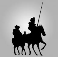 Figura metálica Quijote-Sancho-Molino II