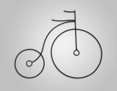 Figura de forja Bicicleta II