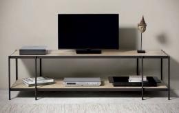 Mesa TV de forja-madera 100