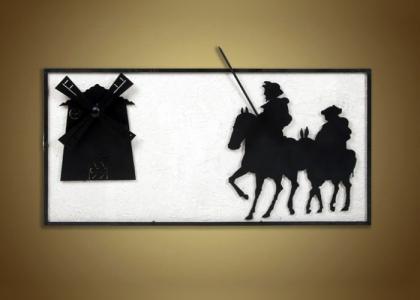 Cuadro Molino-Quijote y Sancho