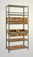 Estante de forja-madera 105