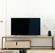 Mesa TV de forja-madera 101