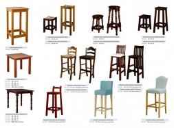 Mesas y taburetes comedor