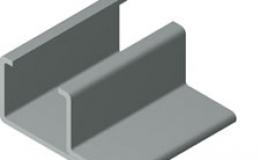 Perfil de metal para guías C-15 / CI-15