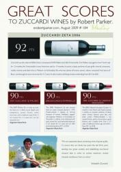 Excelente puntuación para los vinos Zuccardi
