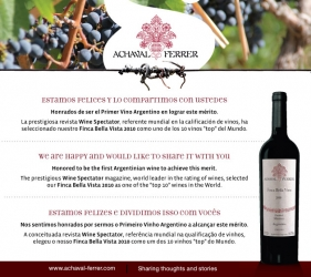 """Achaval Ferrer, """"top 10"""" de Wine Spectator!"""