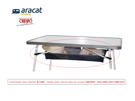 red para mesa de camping