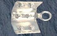TERMINAL GRAPA 6X5 mm PLATA