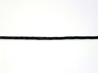 CUERO TRENZADO NEGRO 2,5 mm