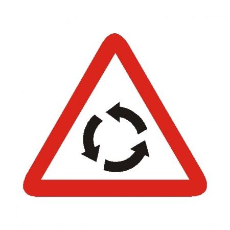 Advertencia de intersección con circulación giratoria