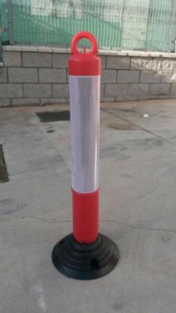 Hito basculante de Ø 10 cm. en color rojo