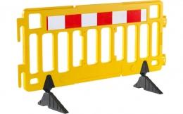 Valla peatonal de plástico amarilla
