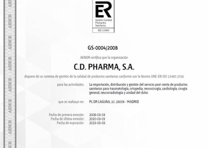 Certificado ISO 13485:2016