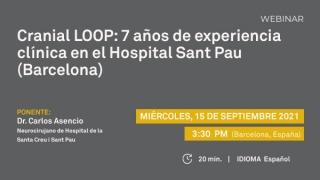 """Próximo webinar NEOS Surgery: """"Cranial LOOP family: 7 años de experiencia clínica en el Hospital Sant Pau (Barcelona)"""""""