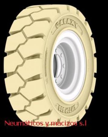 140559 rueda blanca, rueda antihuella, rueda para carretilla elevadora,