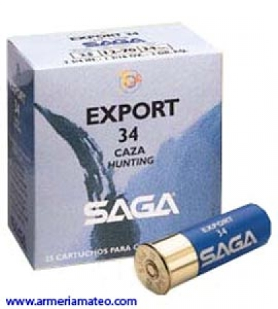Cartuchos SAGA EXPORT 34 grs